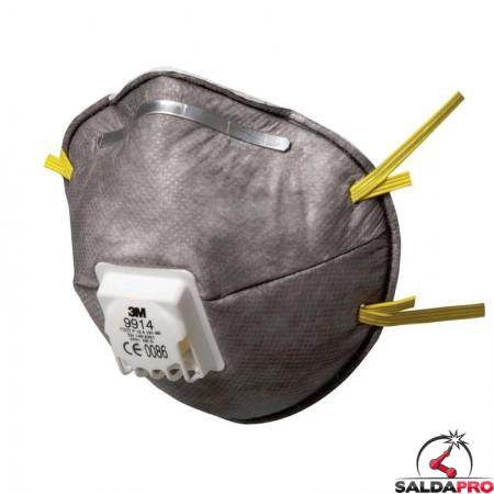 mascherina monouso per saldatura 3M Specialty 9914 FFP1 con valvola 7000034739
