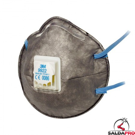 mascherina monouso per saldatura 3M Specialty 9922 FFP2 con valvola 7000088787