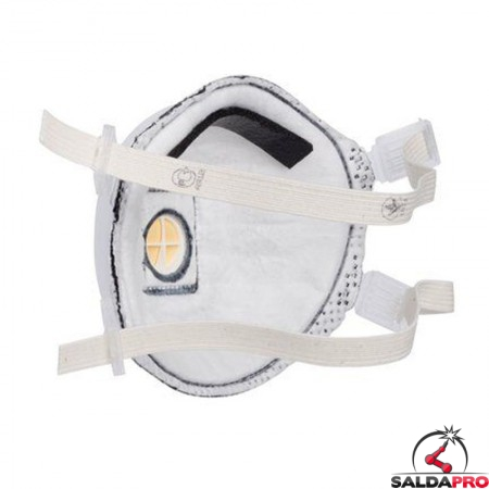 vista posteriore mascherina monouso per saldatura 3M 9925 FFP2