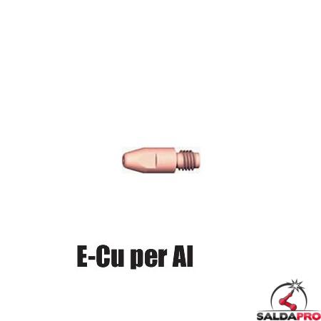 Ugello porta corrente Ø 10 M8 E-Cu per AI per torce GRIP e PP (10pz)