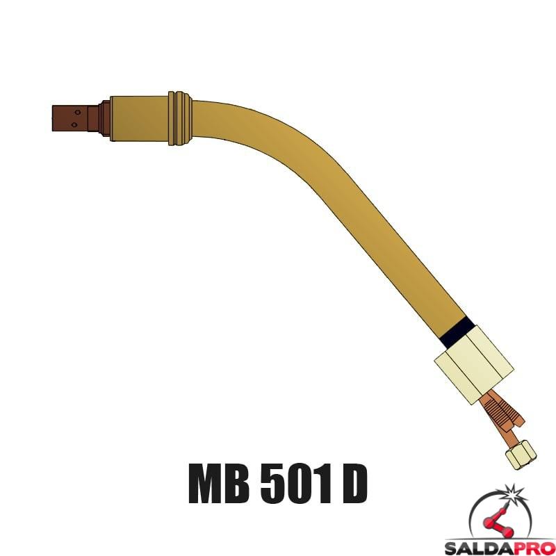 lancia terminale collo 45° ricambio torcia MB 501D Abicor Binzel BZ0340001