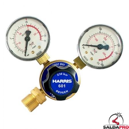 Riduttore di pressione monostadio per ossigeno Harris modello 601