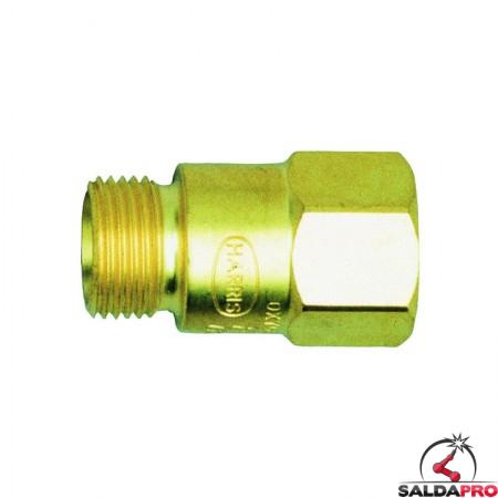valvola di sicurezza antiritorno 88-6 GBR per tubo ossigeno dei cannelli Harris
