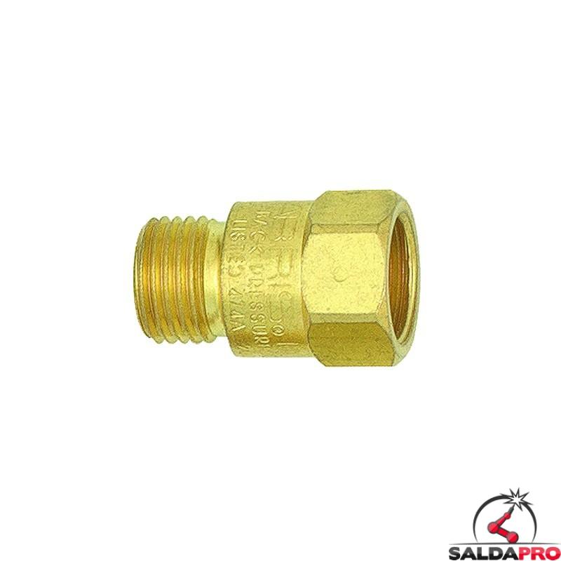valvola di sicurezza antiritorno 88-6 CVTR per tubo ossigeno dei cannelli Harris