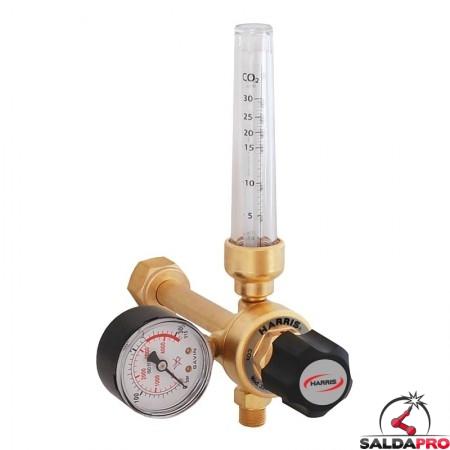 Riduttore di pressione con flussometro per CO2 Harris modello 351 30 Lpm