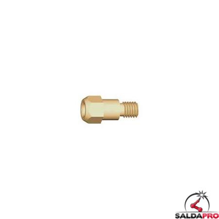 supporto ugello porta corrente m6/m8 ricambio torce mb evo pro abicor binzel
