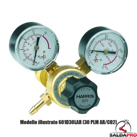 Riduttore di pressione monostadio CO2 601D-10-CD-2264 Harris