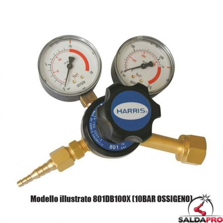 riduttore di pressione per propano a due manometri 801B-4-LP Harris