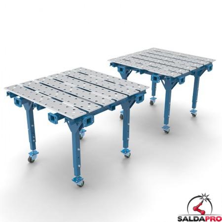 doppio tavolo per saldatura modular aperto
