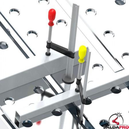 elementi di bloccaggio su tavolo per saldatura modular