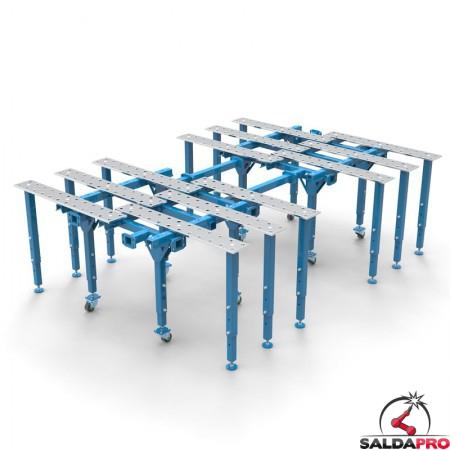 tavolo per saldatura a pistra modular aperto