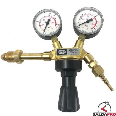 riduttore di pressione monostadio per bombole argon 842D-10-AR Harris