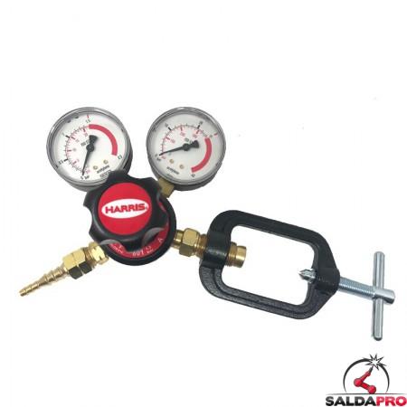 riduttore di pressione monostadio per acetilene 801 Harris
