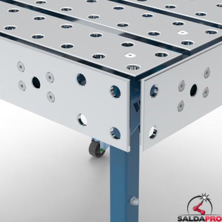 dettaglio tavolo saldatura modular con piastre laterali