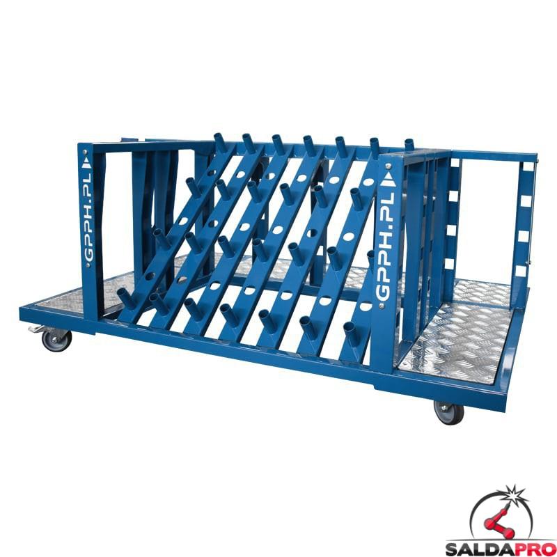 Carrello porta attrezzi 1300x900x600mm per accessori tavoli saldatura