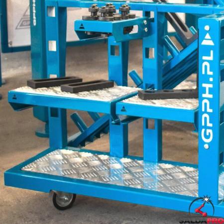 mensola piana 210x300mm GPPH su trolley porta bloccaggi