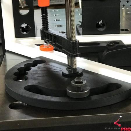 Goniometro per tavoli saldatura con morsetto