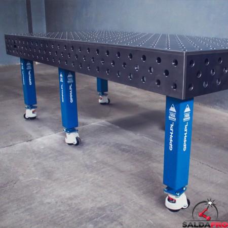 Tavolo per saldatura traditional 2400x1200 con ruote
