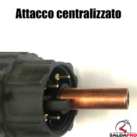 dettaglio attacco centralizzato torcia al plasma cebora P70