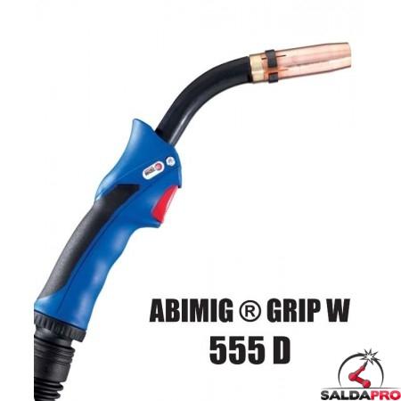 Torcia completa ABIMIG® GRIP W 555 D per saldatura MIG/MAG