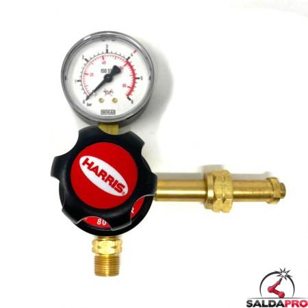 ridutore di pressione un manometro per propano 801BP-4-LP Harris