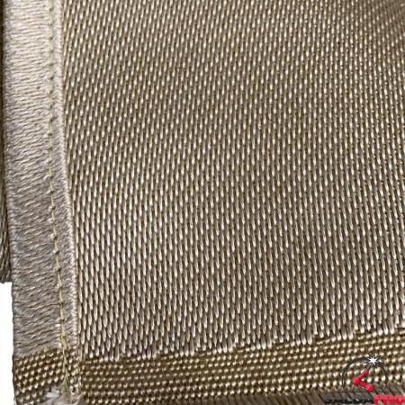 dettaglio cuciture coperta antispruzzo Olympus per saldatura