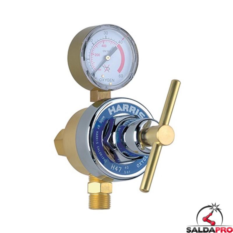 riduttore di pressione ossigeno Harris modello H47 applicazioni laser