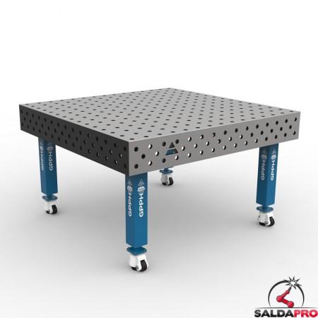 copertura in acciaio inox montata su tavolo saldatura Steel Max 1500x1480 GPPH