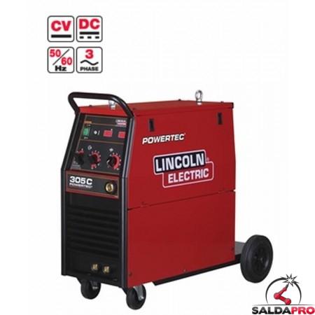 Saldatrice MIG Filo Animato POWERTEC 305C Lincoln Electric 230/400V multi-purpose