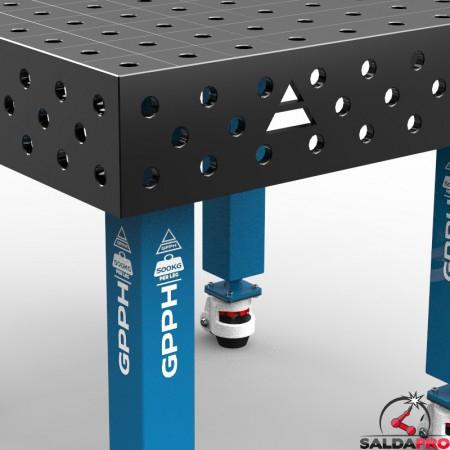 dettaglio tavolo saldatura SteelMax 1200x1200 GPPH