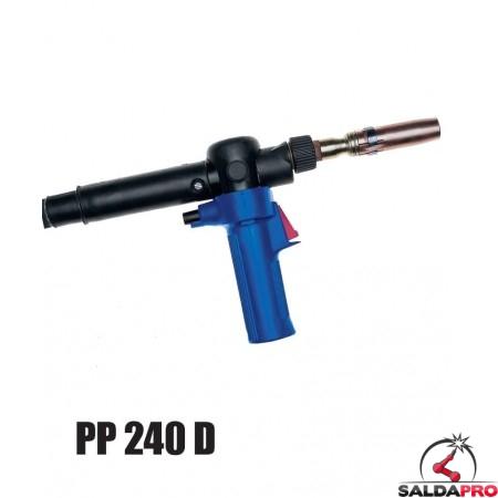 Torcia completa Push-Pull PP 240 D 45° per saldatura MIG/MAG