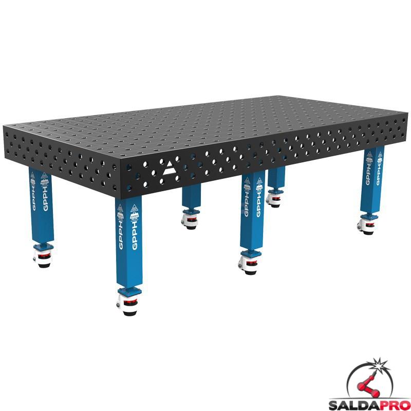 Tavolo saldatura SteelMax 2400x1200 GPPH con ruote