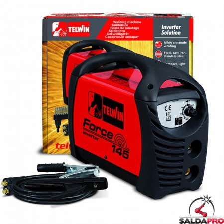 Saldatrice Inverter MMA FORCE 145 230V con valigetta e accessori
