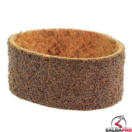 Nastri abrasivi in tessuto SC Ø 90x50mm a grana grossa marrone