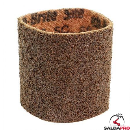 Nastri abrasivi in tessuto SC Ø 90x100mm a grana grossa marrone