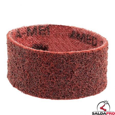 Nastri abrasivi in tessuto SC Ø 90x50mm a grana media rosso