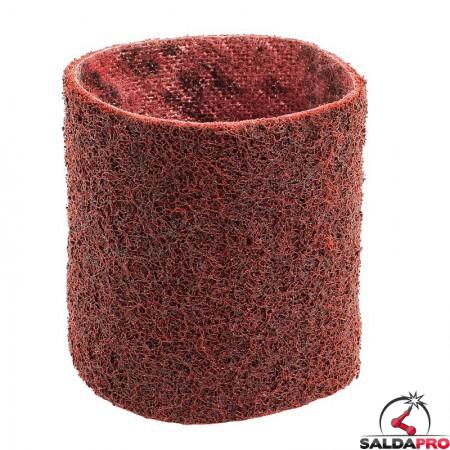 Nastri abrasivi in tessuto SC Ø 90x100mm a grana media rossa