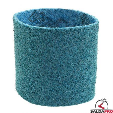 Nastri abrasivi in tessuto SC Ø 90x100mm a grana fine blu