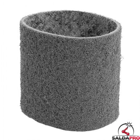 Nastri abrasivi in tessuto SC Ø 90x100mm a grana super fine grigio