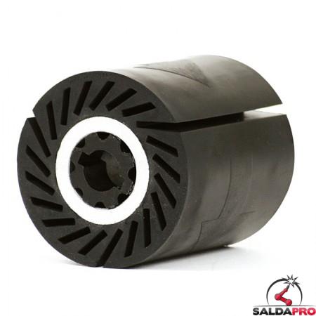 Rullo ad espansione segmentato Ø90x100mm per nastri abrasivi