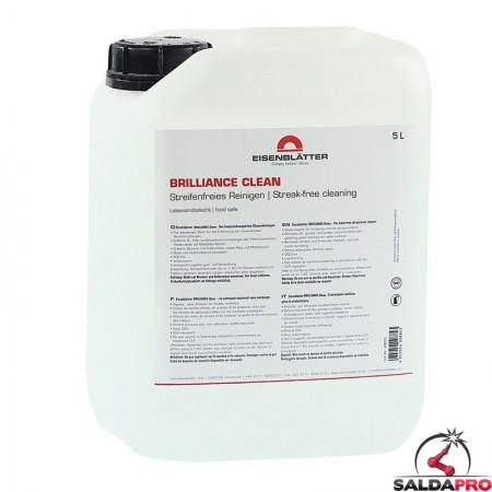 Detergente Brilliance Clean tanica 5 litri per pulizia metalli