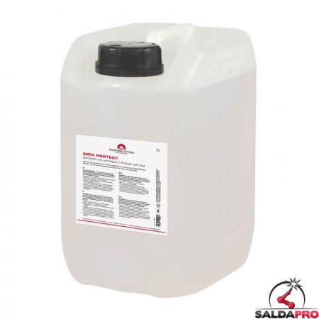 Cera secca Inox Protect in tanica da 5 litri per protezione metalli