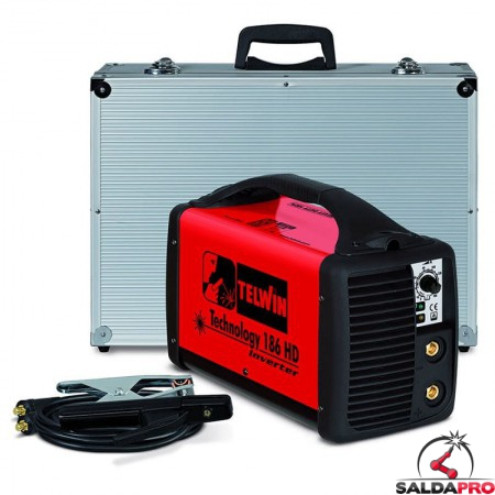 Saldatrice Inverter MMA e TIG TECHNOLOGY 186 HD 230V in valigetta