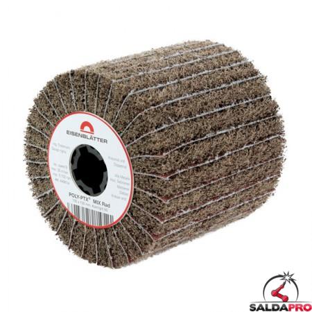 Rullo lamellare e fibra nylon Mix Ø105x100mm per satinatura metalli