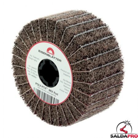 Rullo lamellare e fibra nylon Mix Ø105x50mm per satinatura metalli
