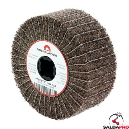Rullo lamellare e fibra nylon Mix Ø115x50mm per satinatura metalli