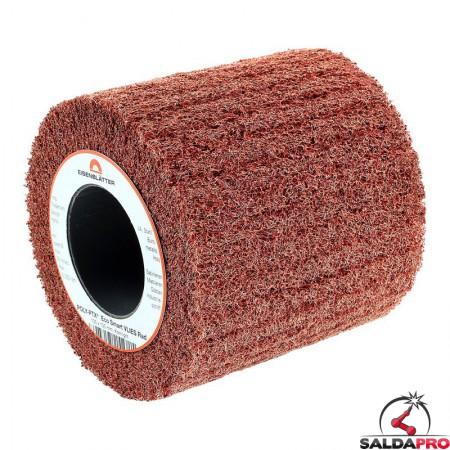 Rullo in fibra abrasiva Eco Smart Ø105x100mm per finitura, grana 60-400