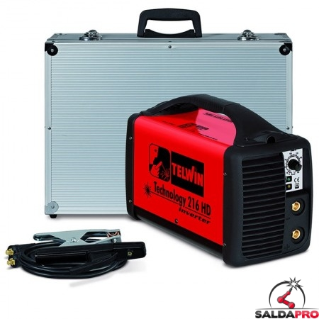 Saldatrice Inverter MMA e TIG TECHNOLOGY 216 HD 230V in valigetta