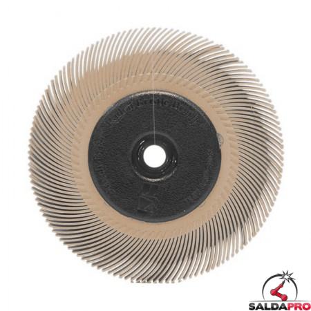 Spazzola radiale 3M Bristle a filo curvo Tipo C Ø150 mm, grana 6 micron