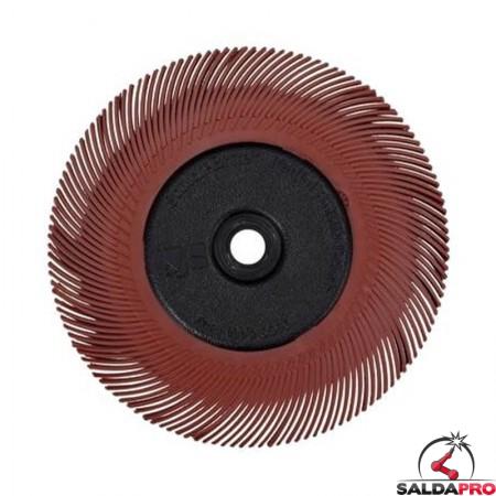Spazzola radiale 3M Bristle a filo curvo Tipo C Ø200 mm, grana 220